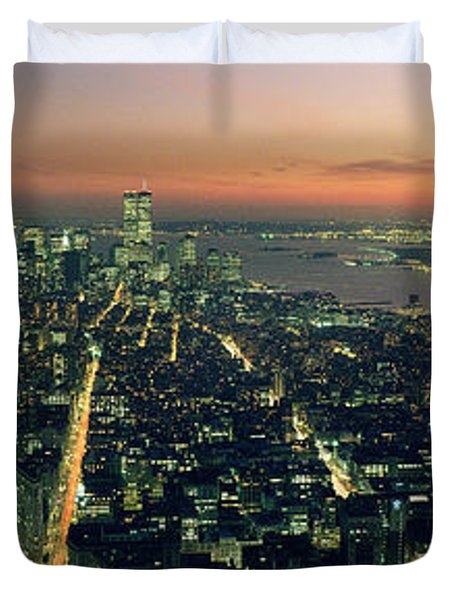 On Top Of The City Duvet Cover by Jon Neidert