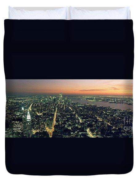 On Top Of The City Duvet Cover by Jon Neidert