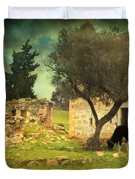 Once upon a time in Phokaia  Duvet Cover by Taylan Soyturk