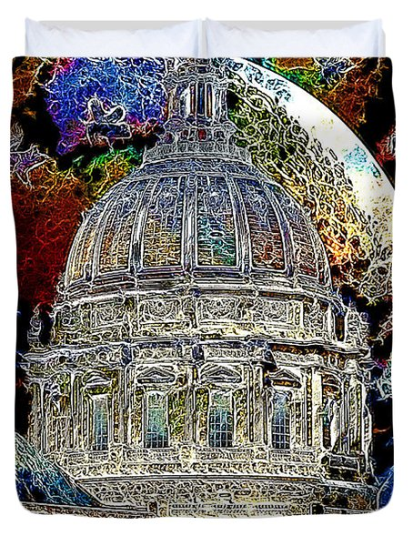 Once Upon A Time On A Warm Summers Night In San Francisco 5d22548 Artwork Duvet Cover by Wingsdomain Art and Photography