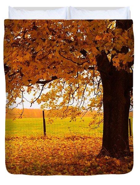 One Autumn Tree Duvet Cover by Terri Gostola