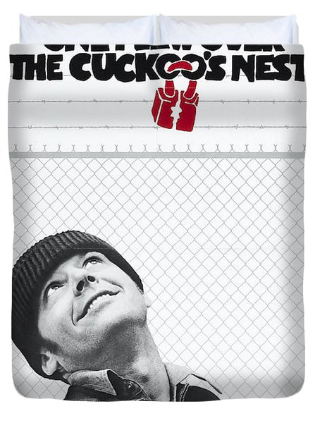 One Flew Over The Cuckoo's Nest Duvet Cover by Georgia Fowler