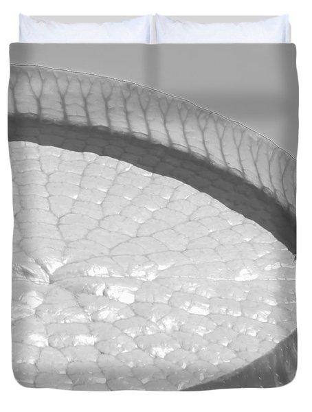 One Huge Lily Pad #3b Duvet Cover by Sabrina L Ryan