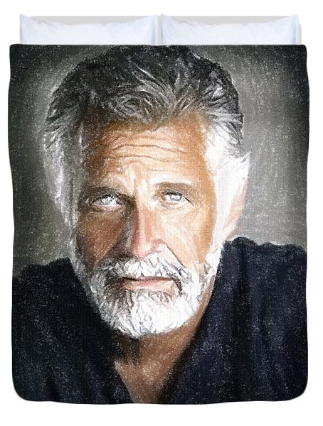 One Of The Most Interesting Man In The World Duvet Cover by Angela A Stanton