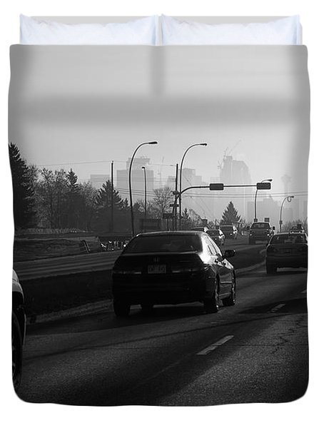 One Smoggy Morning Duvet Cover by Trever Miller
