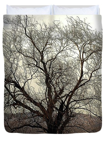 One Tree Duvet Cover by Kathleen Struckle
