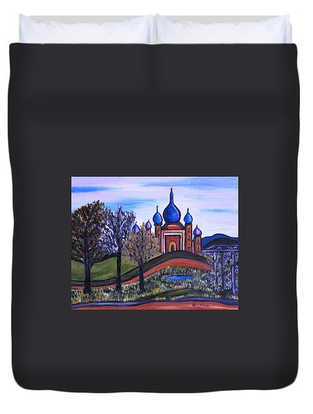 Onion Scape Duvet Cover by Kerry Bennett