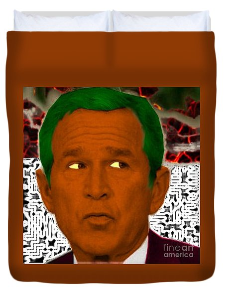 Oompaloompa Bush Duvet Cover by Andrew Kaupe