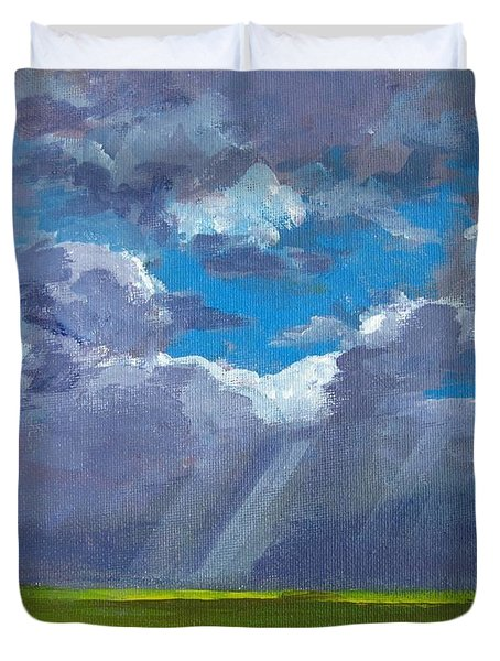 Open Field Majestic Duvet Cover by Patricia Awapara