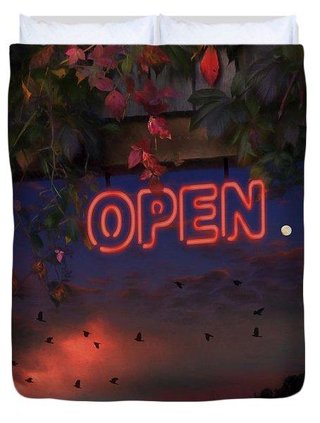 Open Duvet Cover by Ron Jones