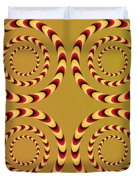 Optical Ilusions Summer Spin Duvet Cover by Sumit Mehndiratta