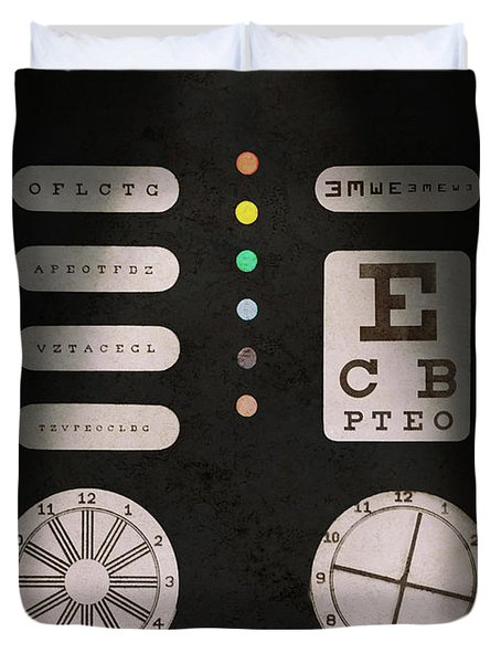 Optometrist - Optical Confusion Duvet Cover by Mike Savad