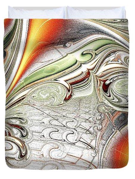 Orange Accent Duvet Cover by Anastasiya Malakhova