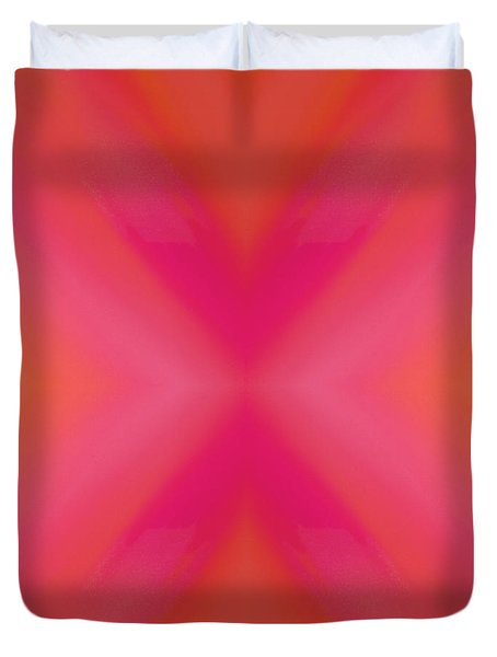 Orange And Raspberry Sorbet Abstract 6 Duvet Cover by Andee Design