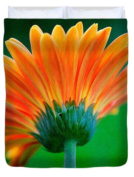 Orange Blast Duvet Cover by Lois Bryan