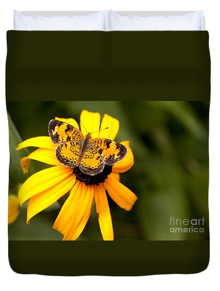 Orange Butterfly Duvet Cover by Lena Auxier