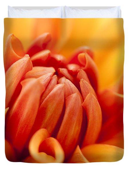Orange Centre Duvet Cover by Anne Gilbert