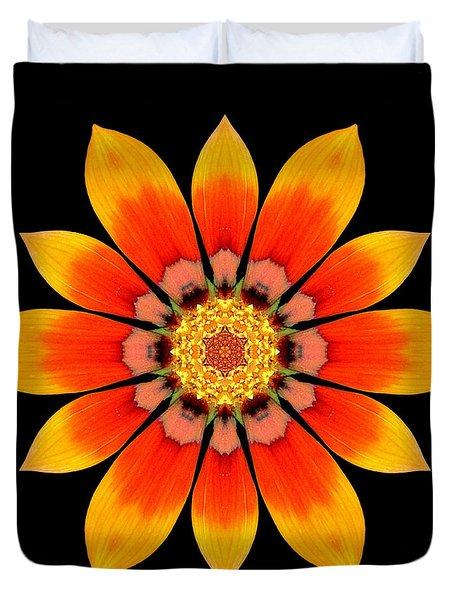 Orange Gazania I Flower Mandala Duvet Cover by David J Bookbinder