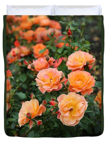 Orange Roses Duvet Cover by Carol Groenen