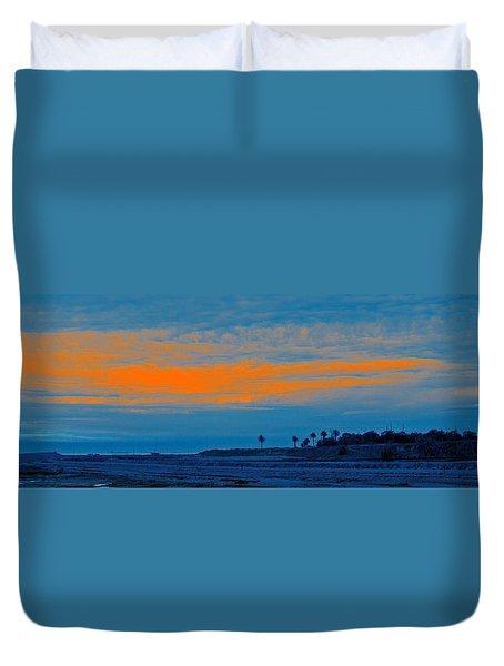 Orange Sunset Duvet Cover by Ben and Raisa Gertsberg