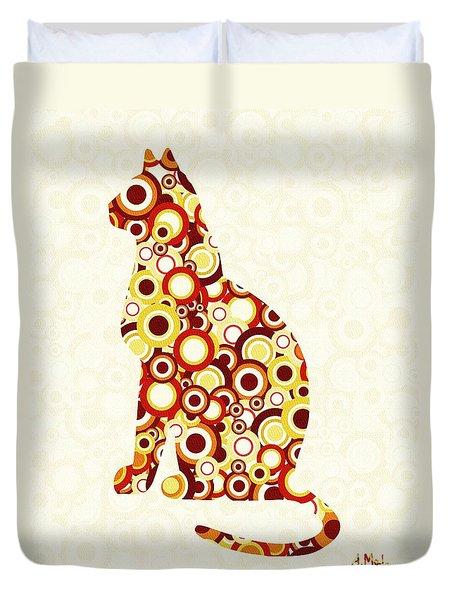 Orange Tabby - Animal Art Duvet Cover by Anastasiya Malakhova