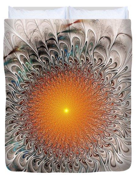 Orange Zone Duvet Cover by Anastasiya Malakhova