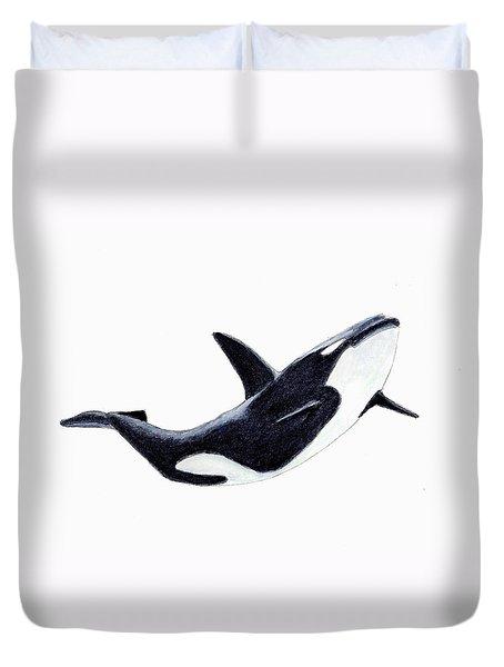 Orca - Killer Whale Duvet Cover by Michael Vigliotti