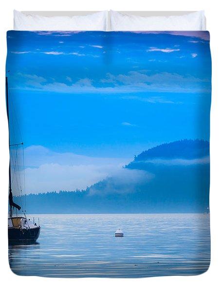 Orcas Sailboat Duvet Cover by Inge Johnsson