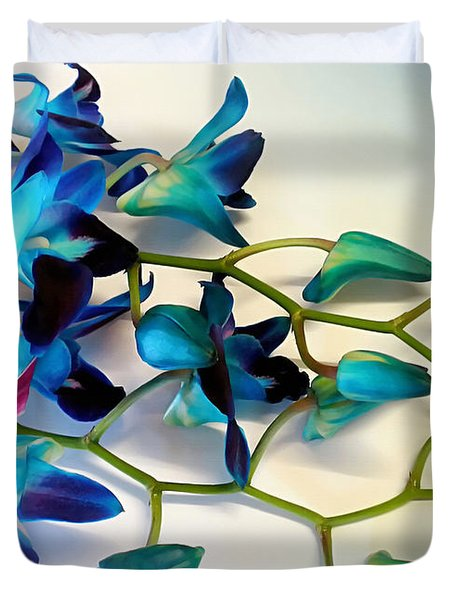 Orchid Bouquet Duvet Cover by Kaye Menner