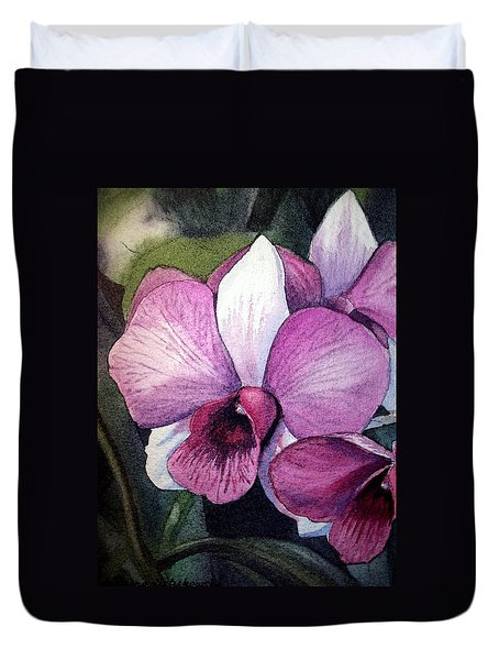 Orchid Duvet Cover by Irina Sztukowski