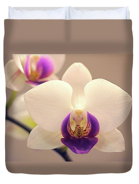 Orchid Duvet Cover by Rona Black