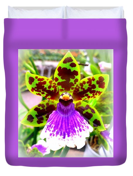 Orchid Duvet Cover by The Creative Minds Art and Photography