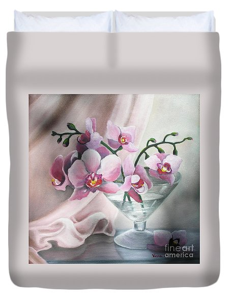 Orchids Duvet Cover by Vesna Martinjak