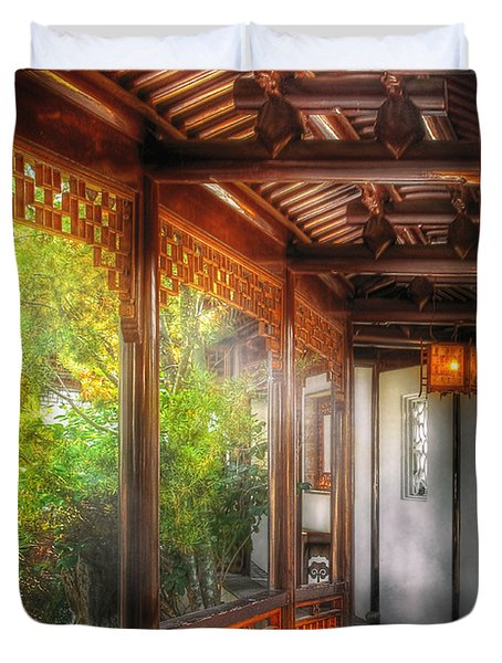 Orient - Continue On Duvet Cover by Mike Savad