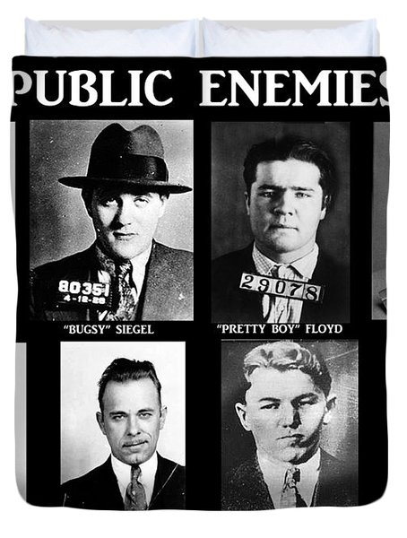 Original Gangsters - Public Enemies Duvet Cover by Paul Ward