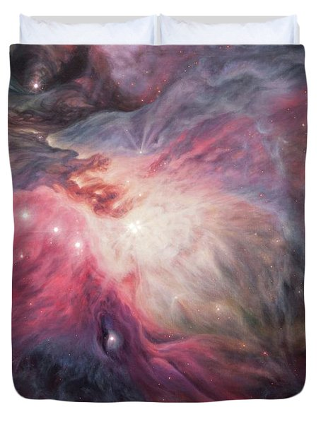 Orion Nebula M42 Duvet Cover by Lucy West