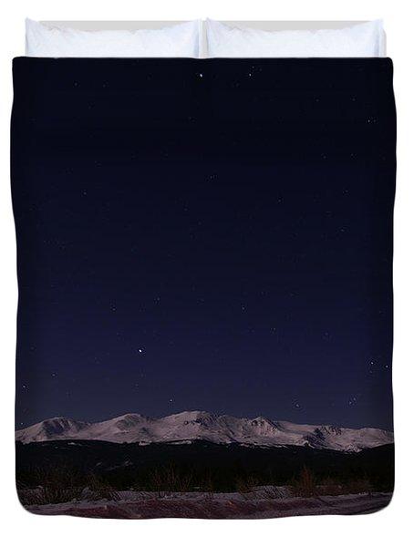 Orion's Descent Duvet Cover by Jeremy Rhoades
