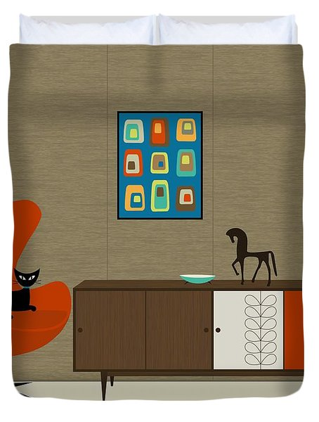 Orla Kiely Cabinet Duvet Cover by Donna Mibus