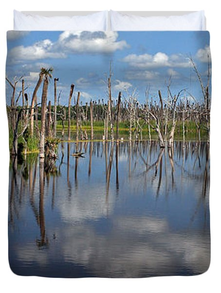 Orlando Wetlands Cloudscape 5 Duvet Cover by Mike Reid