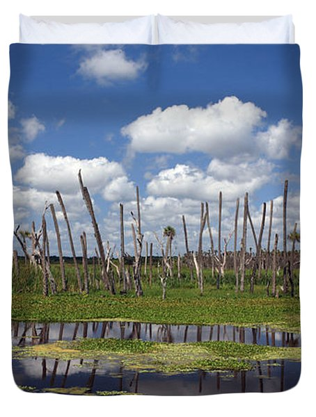 Orlando Wetlands Cloudscape Duvet Cover by Mike Reid