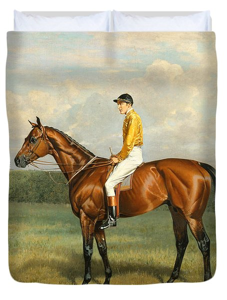 Ormonde Winner Of The 1886 Derby Duvet Cover by Emil Adam