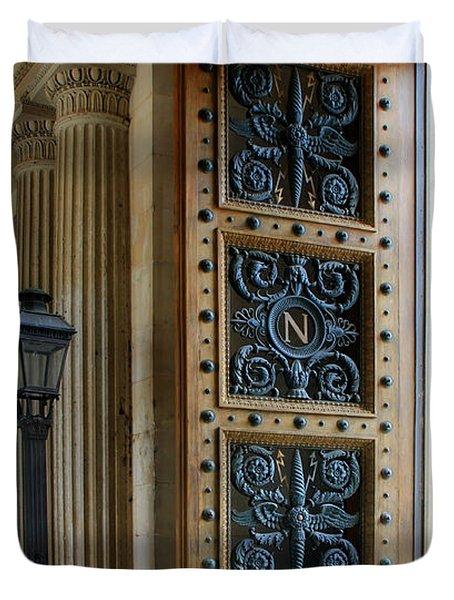 Ornate Door Duvet Cover by Andrew Fare