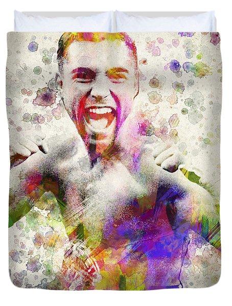 Oscar De La Hoya Duvet Cover by Aged Pixel