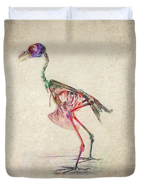 Osteology of birds Duvet Cover by Aged Pixel