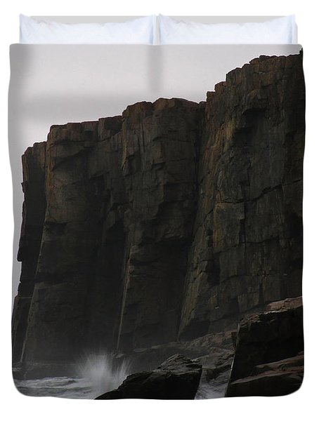 Otter Cliff Duvet Cover by Juergen Roth