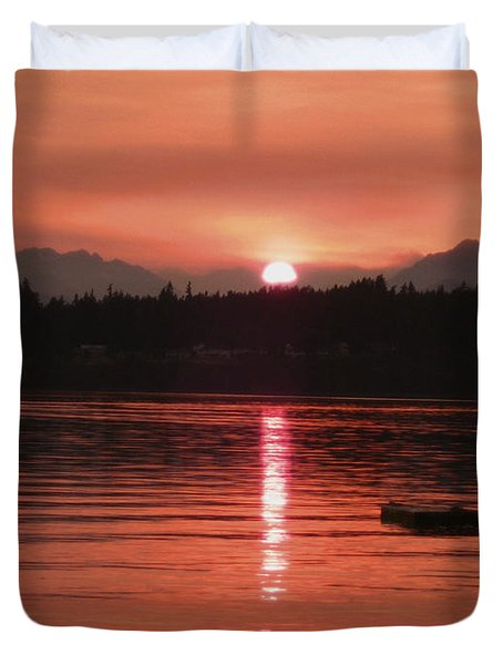Our Beach At Sunset  Duvet Cover by Kym Backland