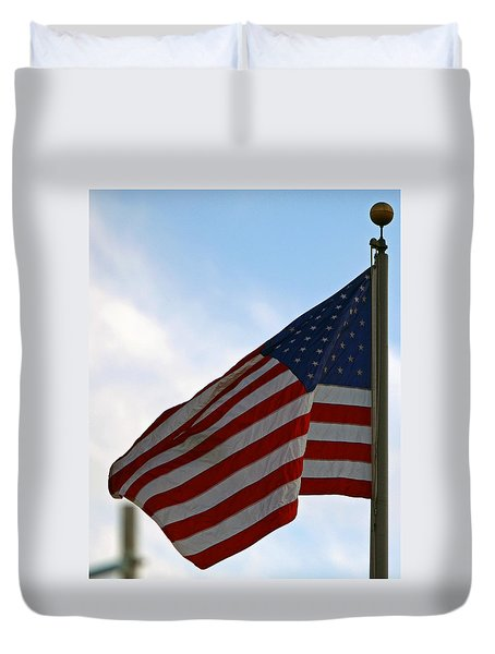 Our Flag Was Still There Duvet Cover by Shoal Hollingsworth