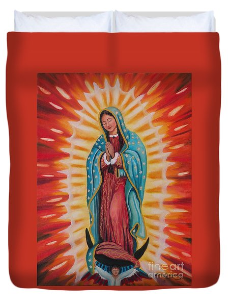 Our Lady Of Guadalupe Duvet Cover by Lora Duguay