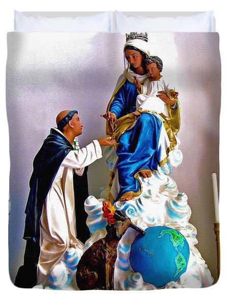 Our Lady Of Peace Duvet Cover by Karon Melillo DeVega