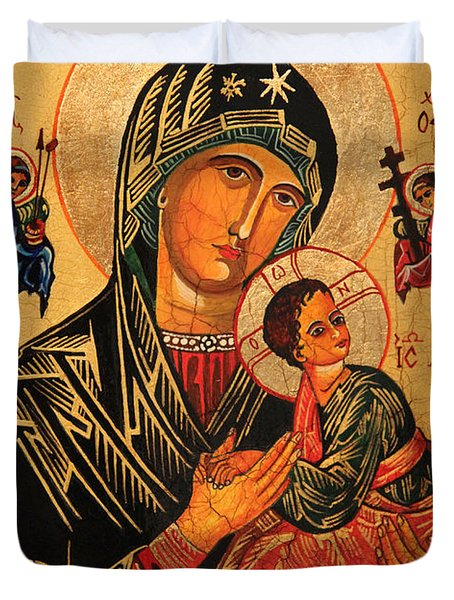Our Lady of Perpetual Help Icon II Duvet Cover by Ryszard Sleczka